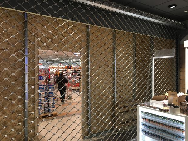 Rollgitter Wabe Aluminium für Shop