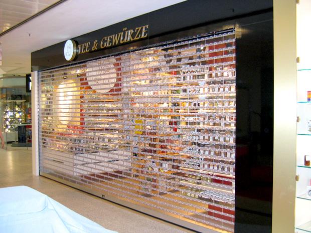 Shopabschluß transparent